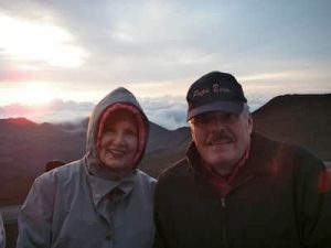Mom & Daddy on Haleakala at sunrise