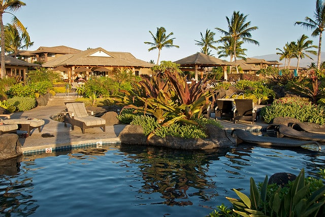 Pool at Hali'i Kai vacation resort on Hawaii, the Big Island