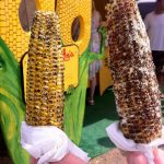 Barbecued Kahuku corn from Uncle Woody's
