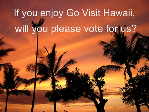 please vote for Go Visit Hawaii