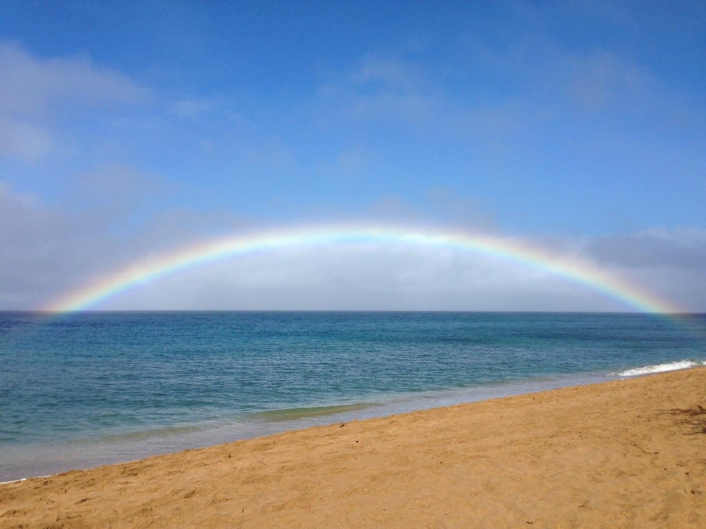 kaanapali beach rainbow