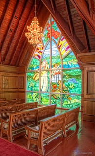 A view inside the Grand Wailea Wedding Chapel