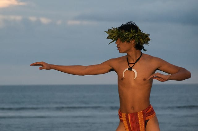Male Hawaiian Hula Dancer