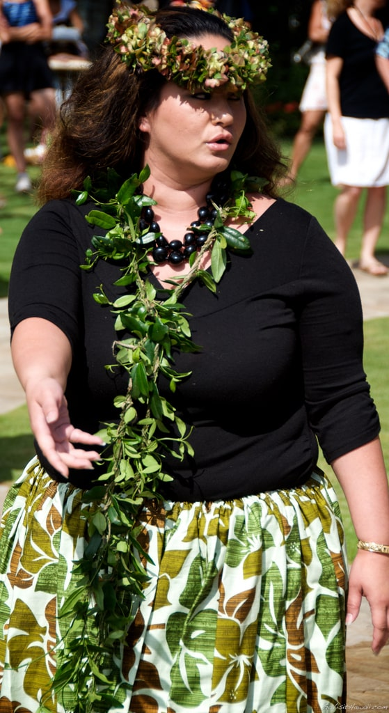 Hula dancer at Lei Day