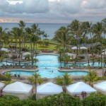 Cascading, three-tiered pool at Ritz-Carlton Kapalua