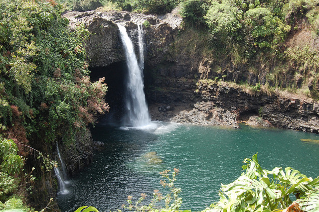 Rainbow Falls on Hawaii, the Big Island in March
