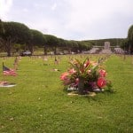 Punchbowl decorated for Memorial Day. (Photo credit to D. Zuls)