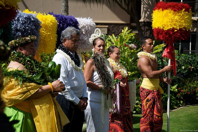 A Lei Day celebration on Kauai.