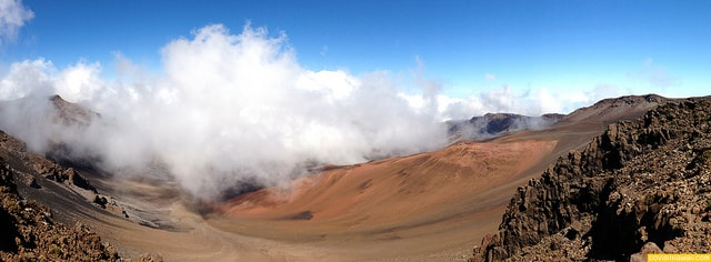 summit crater at haleakala