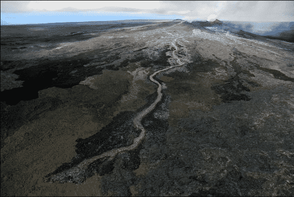 lava flow on big island photo by HVO