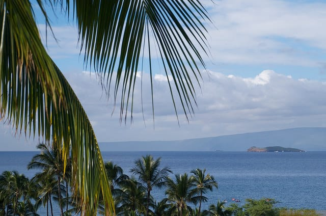 a view of molokini crater from wailea maui