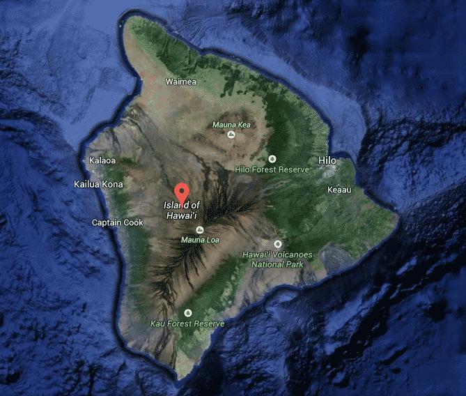 Windward and Leeward sides of Hawaii Island illustrated
