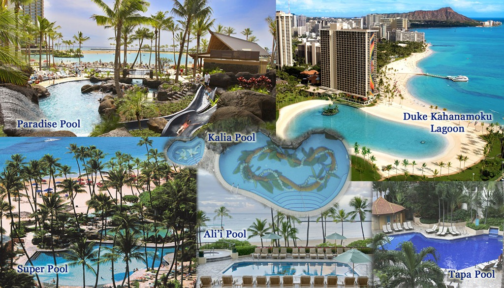 Pool Montage V3 Hilton Hawaiian Village Pools