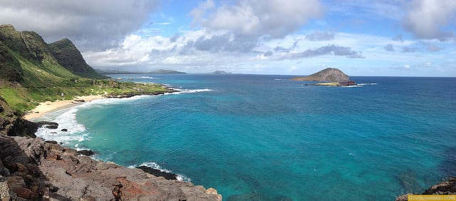 This view of east Oahu can be enjoyed by a stop at Makapu'u just off Highway 72.