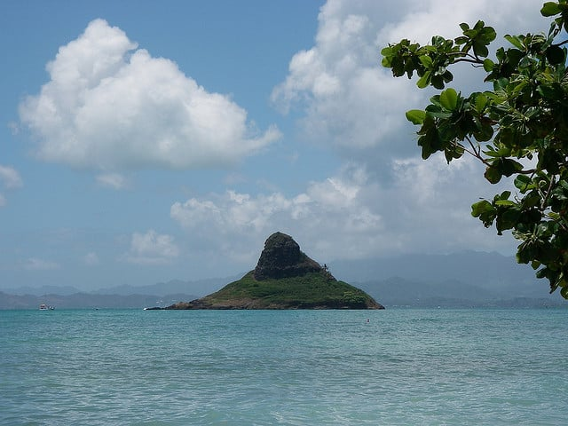 This islet Mokoli'i is also known as Chinaman's Hat.