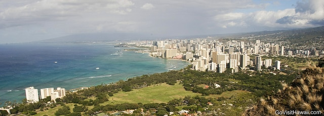 A view of Waikiki and Honolulu from the top of Diamond Head
