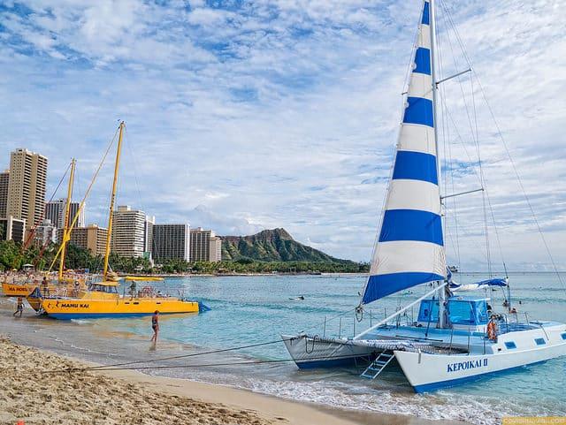 A December day on Waikiki Beach