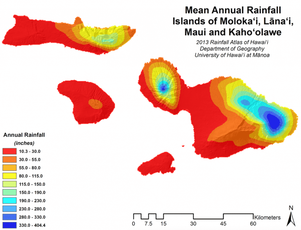 maui nui rainfall map