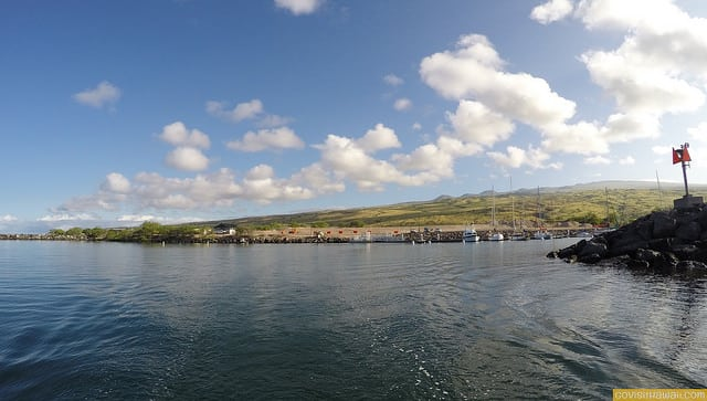 Leaving Kawaihae Small Boat Harbor
