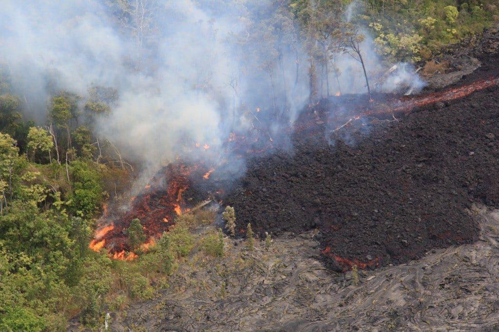 USGS photo of lava flow taken on June 28, 2016