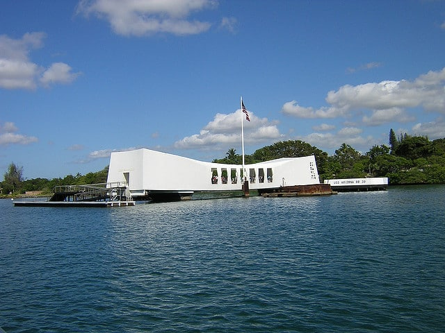 USS Arizona Memorial in Pearl Harbor is the first stop in our Oahu sightseeing plan.
